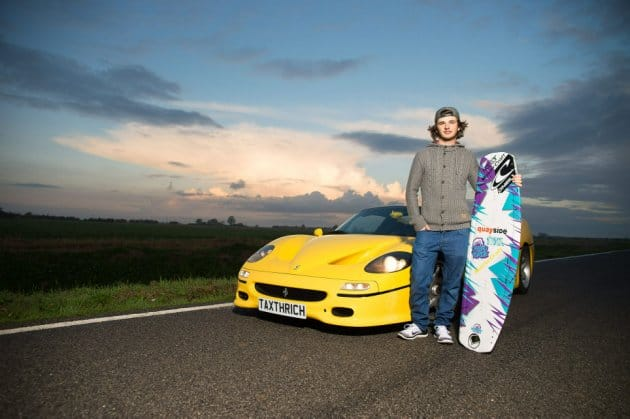 When wake boarding and a Ferrari F50 combine