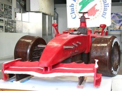 Chocolate Ferrari F1 Car