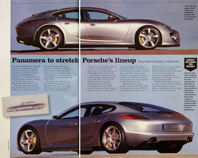Porsche prepares four-door slingshot
