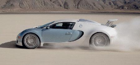Bugatti Veyron in the Desert
