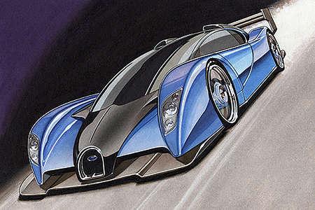 Project Lydia Bugatti - concept sketches