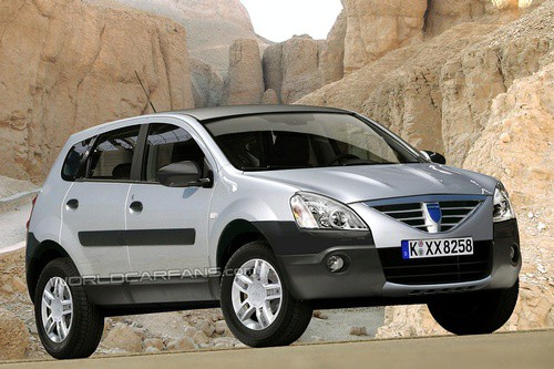Dacia Logan SUV - rendered