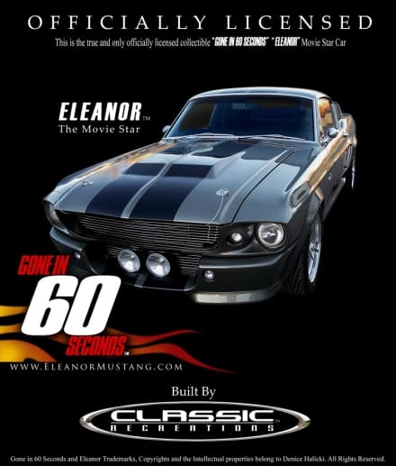 Custom-Built Gone in 60 Seconds Eleanor (Shelby GT500E)