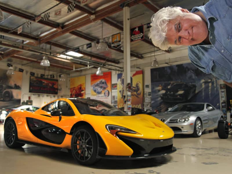 Watch as Jay Leno's McLaren P1 gets wrapped