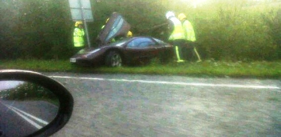 Rowan Atkinson Crashes Pride Of Car Collection: McLaren F1 (Picture)