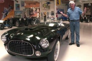 Jay Leno drives a 1952 Ferrari Barchetta