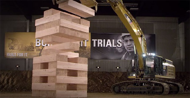 Video: Caterpillar Machines playing Jenga